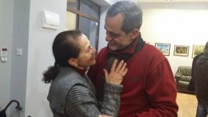 Веско Ламбрев и съпругата му, актрисата Мария Генчева