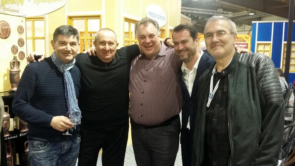 Иво Райчев, Димитър Туджаров-Шкумбата, д-р Мирослав Ненков, Михаил Дюзев и Иван Бакалов